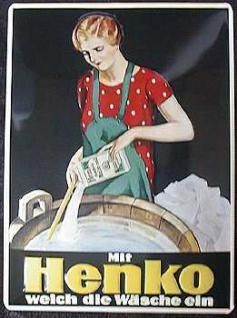 Henko weich die Wäsche ein Blechschild - Vorschau