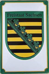 Freistaat Sachsen Blechschild - Vorschau