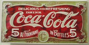 Coca Cola Delicious and Refreshing Blechschild - Vorschau
