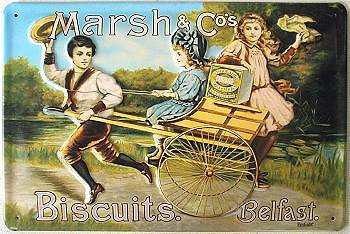 Marsh & Co Biscuits Blechschild