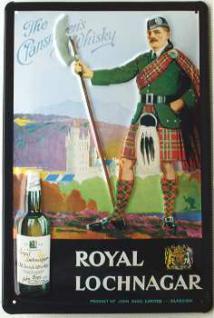Royal Lochnagar Whisky Blechschild