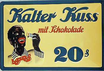 Kalter Kuss mit Schokolade Blechschild
