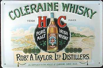 Coleraine Whisky Blechschild