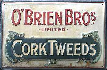O'Brien Bros Cork Tweeds Blechschild - Vorschau