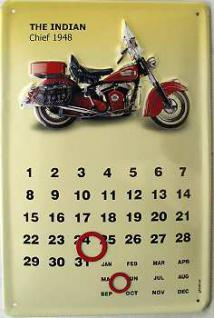 Indian Chief 1948 Kalender Blechschild