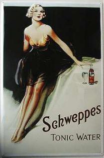 Schweppes Tonic Water Blechschild