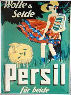 Persil Wolle und Seide Blechschild - Vorschau