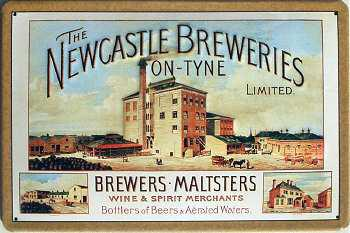 Newcastle Breweries Blechschild