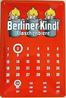 Berliner Kindl Kalender Blechschild