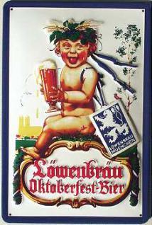Löwenbräu Oktoberfest-Bier Junge Blechschild - Vorschau
