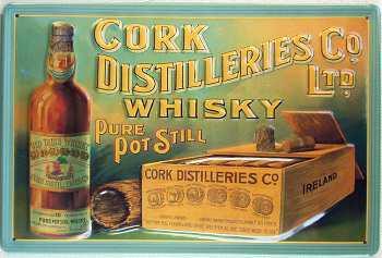 Cork Destilleries Whisky Blechschild - Vorschau