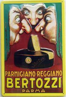 Bertozzi Parma Käse Blechschild - Vorschau