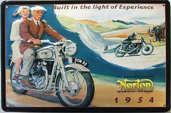 Norton 1954 Blechschild - Vorschau