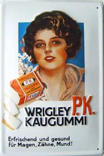 Wrigley PK Kaugummi Blechschild - Vorschau