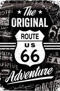 Route 66 - The original Adventure Blechschild - Vorschau
