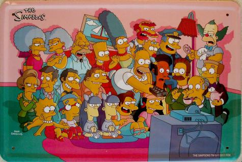 Simpsons - Family Blechschild - Vorschau