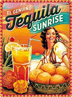 Tequila Sunrise Blechschild - Vorschau