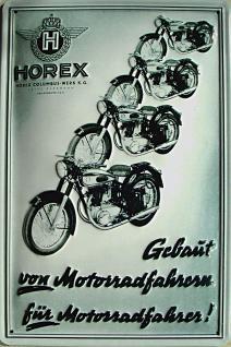 Horex Blechschild