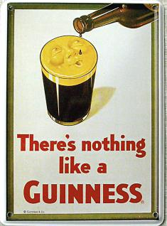 Guinness there's nothing like Mini Blechschild