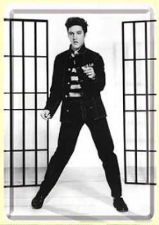 Blechpostkarte Elvis Jailhouse Rock - Vorschau