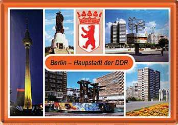 Blechpostkarte Berlin Hauptstadt der DDR - Vorschau