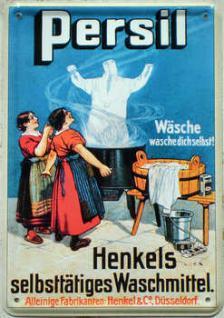 Blechpostkarte Persil - Henkels selbsttätiges Waschmittel