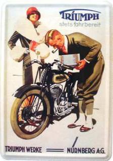 Blechpostkarte Triumph Werke Nürnberg - Vorschau