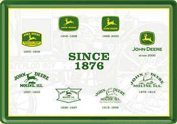 Blechpostkarte John Deere Since 1876