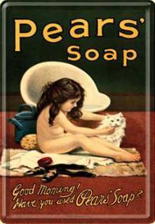 Blechpostkarte Pears Soap - Vorschau