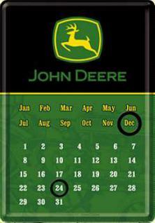 Blechpostkarte John Deere Kalender