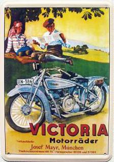 Blechpostkarte Victoria Motorräder - Vorschau