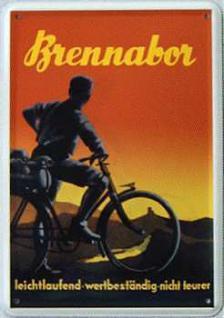 Blechpostkarte Brennabor Fahrrad