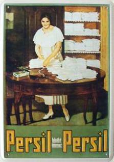 Blechpostkarte Persil bleibt immer Persil Waschfr.