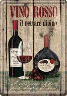Blechpostkarte Vino Rosso - Vorschau