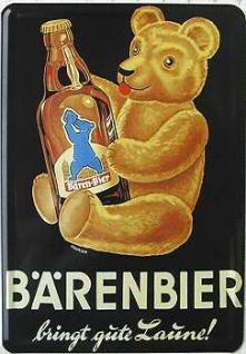 Blechpostkarte Bärenbier - Vorschau