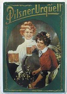 Blechpostkarte Pilsner Urquell