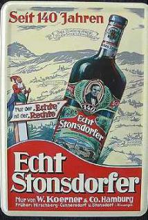 Blechpostkarte Stonsdorfer - Vorschau