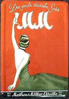 Blechpostkarte MM, der grosse deutsche Sekt - Vorschau