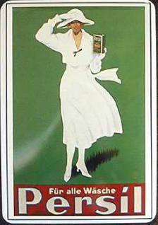 Blechpostkarte Persil Für alle Wäsche