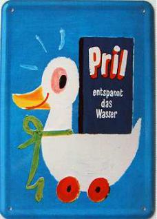 Blechpostkarte Pril - Vorschau