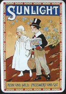 Blechpostkarte Sunlicht Brautpaar - Vorschau