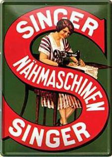 Blechpostkarte Singer Nähmaschinen - Vorschau