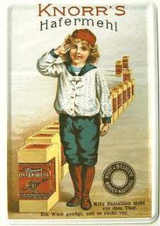 Blechpostkarte Knorr's Hafermehl