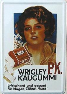 Blechpostkarte Wrigley P.K. Kaugummi