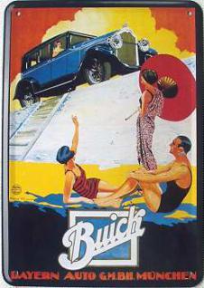 Blechpostkarte Buick - Vorschau