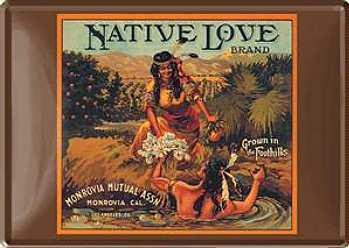 Blechpostkarte Native Love - Vorschau