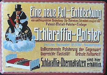 Blechpostkarte Schlaraffia Polster - Vorschau