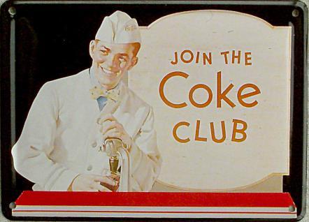 Coca Cola Join the Coke Club Mini Blechschild