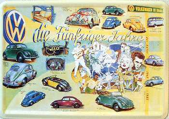 Blechpostkarte VW Fünfziger Jahre - Vorschau