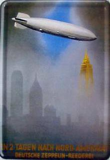 Blechpostkarte Deutsche Zeppelin-Reederei